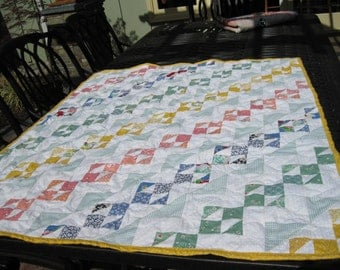 Baby or Crib quilt made of 30's fabrics
