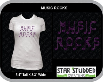 MUSIC ROCKS  in Spangle.....SUPER Bling can be fully Customized!!!!!