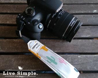 DSLR Wrist Camera Strap Cactus | Accessories | Soft Cotton | Live Simple®