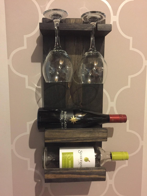 two wine glass two wine bottle shelf rack. Black Bedroom Furniture Sets. Home Design Ideas