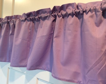 Solid Purple Lavender Curtain Valance
