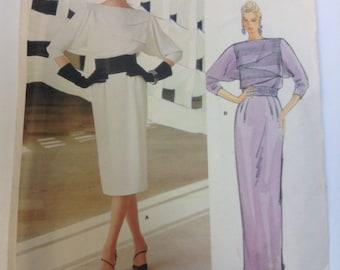 Vogue 1404 Christian Dior Designer Dress Pattern Size 12 Paris Original