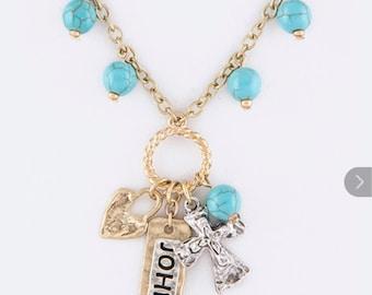 Cross necklace John 3:16