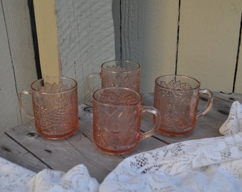 Four K16 Textured Vintage Mugs from Indonesia