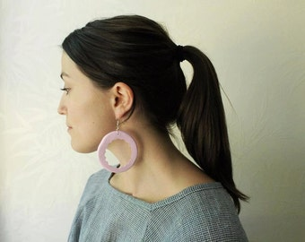 Classic Pink Pastel Hoops