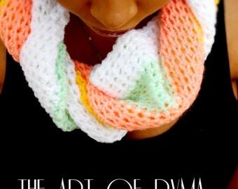 """Women's Scarf Crochet Pastel """"The Yavette"""""""