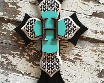 Monogrammed Decorative Wall Cross