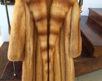 Real Red Fox Coat full length