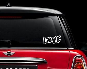 Love Pickleball decal, car decal, laptop decal, ipad decal, iphone decal, car sticker