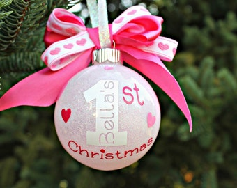 Baby's First Christmas, Baby Christmas Ornament, Baby Girl Ornament, Christmas Ornament, Baby Girl 1st Ornament, 1st Ornament, Ornament