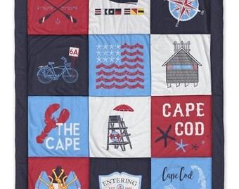 Cape Cod Navy Destination Blanket