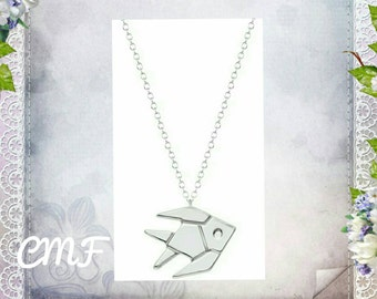 Origami Fish Necklace 925 Sterling Silver Necklace Fish Pendant