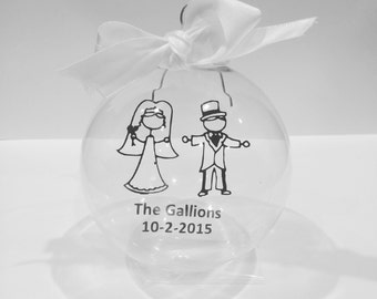 Wedding Couple Custom Ornament