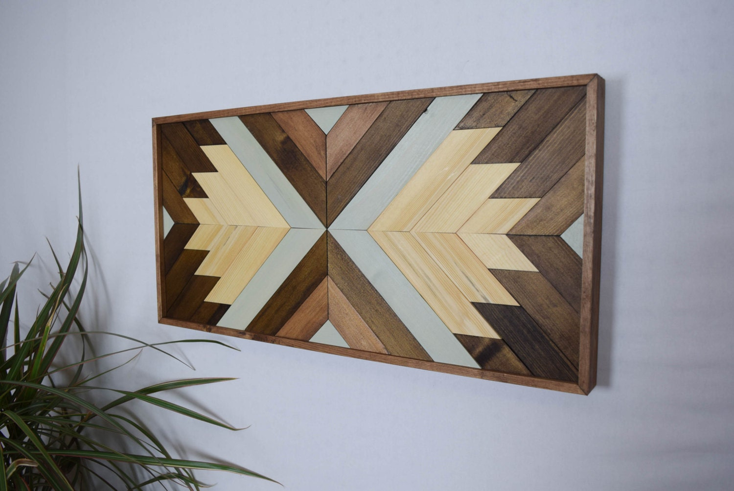 Wood Wall Art Contemporary Geometric Wood By