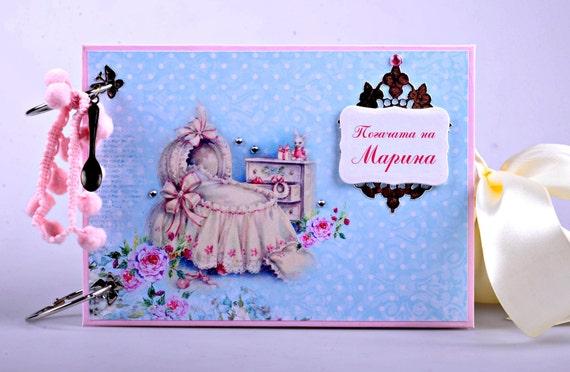 Baby Girl Scrapbook Mini Album - Baby Album - Baby Photo Album - Little Princess Memory Book - First Year Album - Personalized Mini Album