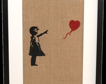 Framed 'Banksy' Girl with Balloon picture
