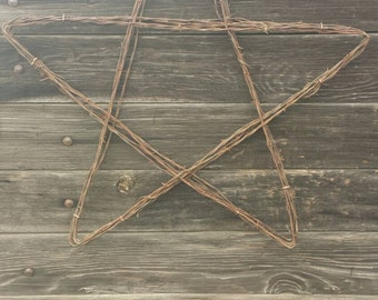 Hand Made Barbed Wire Star