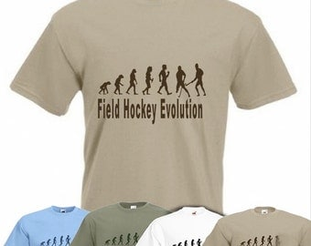 Evolution To Field Hockey t-shirt Funny Hockey Player T-shirt sizes Sm To 2XXL