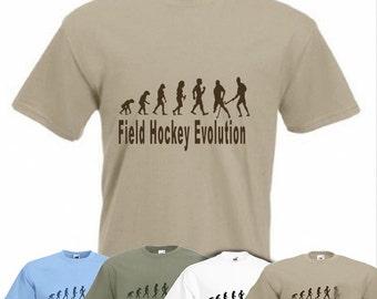 Evolution To Field Hockey t-shirt Funny Hockey Player T-shirt sizes Sm To 2XXL