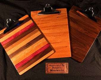 Wood clipboard, Clip board 3pack, Wooden clipboards, clip boards, clipboards, wooden clip boards