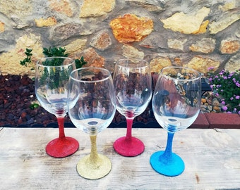 Glitter Wine Glasses