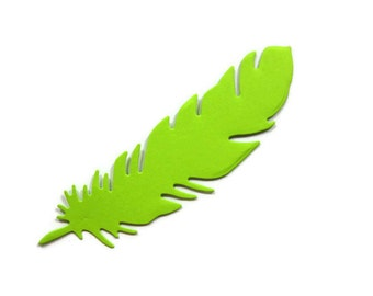 Large Paper Feather Die Cut Set of 25