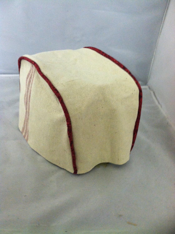 red feedsack 2 slice toaster cover. Black Bedroom Furniture Sets. Home Design Ideas