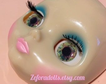Realistic Unique Green Soft Resin Eye Chips For Blythe (14 mm)