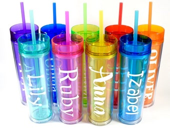 Personalized Tumbler, Skinny Tumbler, Custom Name Tumbler, Bridesmaid Tumbler, Tumblers, Teacher Gift, Custom Name Tumbler