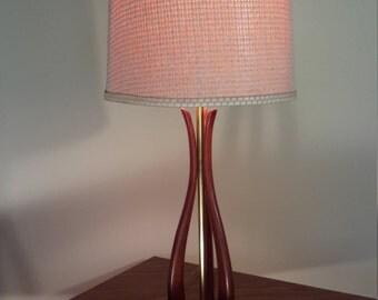 Mid Century Wood Table Lamp