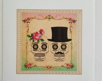 skeleton couple sticker