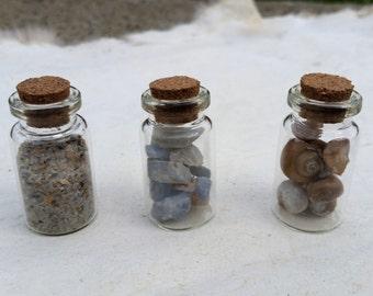 SEA WITCH Curio Jar Set - Sand Shells and Stones