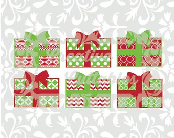 Christmas Presents SVG designs or  Silhouette or other craft cutters (.svg/.dxf/.eps)