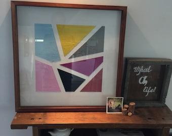 Shapes framed artwork
