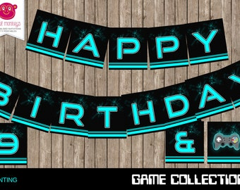 Printable Video Game Party Bunting Banner