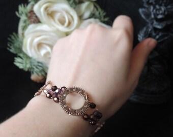 "Bracelet steampunk ""Precious Gears"""