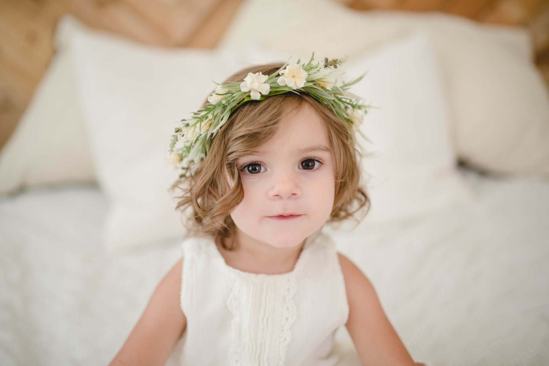 Tieback Flower Crown Headband Newborn Photo Prop Baby
