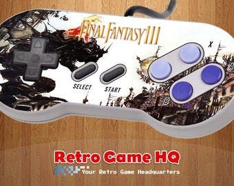 SNES - Final Fantasy III 3 - Controller Overlay (Controller Not Included)