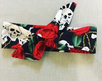 Headband Skulls and Roses