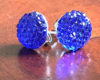 Deep Blue Mermaid Studs