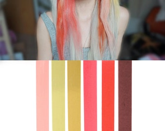 ROSE GOLD Pink Blonde Ombre Hair Chalk Set of 6 | DIY bronde hair dye for easy and simple hair coloring
