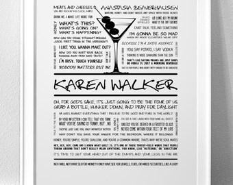 """KAREN WALKER, """"Will & Grace"""" Typography Print"""
