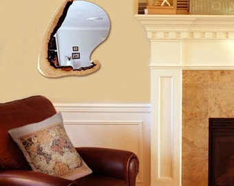 Rustic mirror oak wood origin mirror Decorative vintage wood furniture Decorative orjinal wood mirror  decor