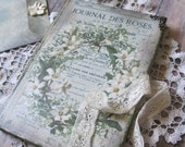 Vintage flowers diary, journal, notebook, tagebuch, shabby chic diary, shabby chic journal, vintage diary, vintage journal, old style diary