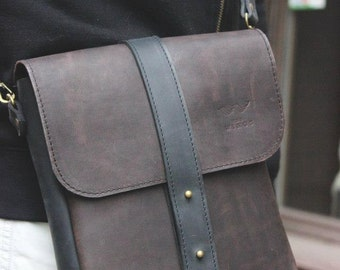 Laptop Bag - ipad bag - Leather Bag For Men - Leather iPad Bag - iPad Leather Bag - Crossbody IPad Bag - ipad shoulder bag - messenger bag
