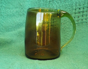 CLEARANCE Glass Mug; Vintage Mug