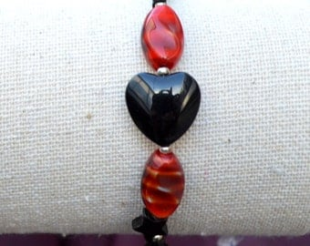 Black & Red Love Bracelet