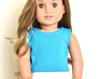 Teal top 18 inch doll clothes