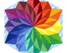Wish Flower (quilt pattern), 3 sizes
