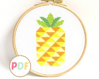 Cross Stitch Pattern - Pineapple - For Beginners
